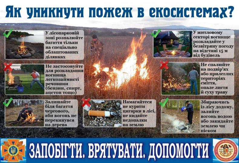 Як уникнути пожеж в екосистемах