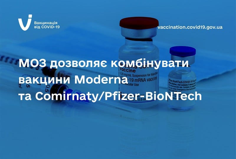 Комбінування вакцин Moderna та Comirnaty/Pfizer-BioNTech є безпечним та ефективним